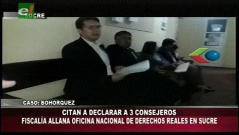 Sucre: Fiscalía allanó oficinas de Derechos Reales