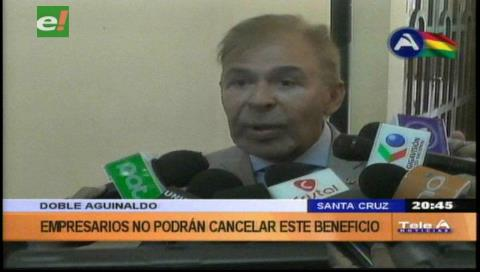 """Cainco: """"Empresarios no podrán pagar doble aguinaldo"""""""