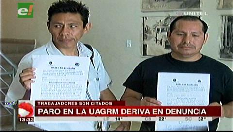 Citan a dirigentes de trabajadores de la Uagrm por atentar contra el trabajo