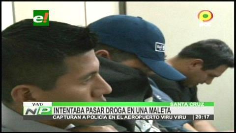 Tráfico de drogas salpica a un efectivo de la Felcn en Viru Viru