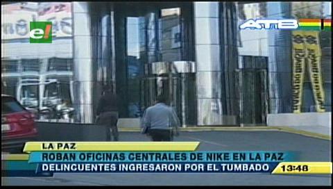 Roban en la oficina central de Nike en La Paz