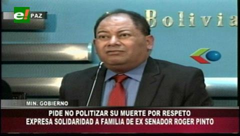 Ministro Romero pide no politizar la muerte de Roger Pinto