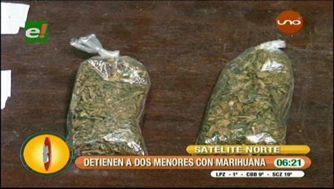 Detienen a dos personas que tenían sobres con marihuana
