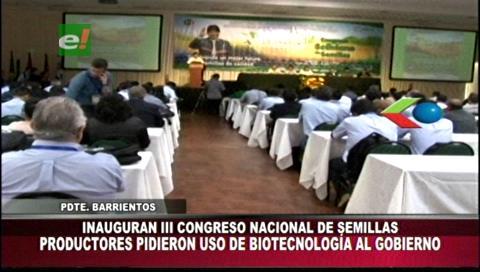 Inauguran Tercer Congreso Boliviano de Semillas en la Fexpocruz