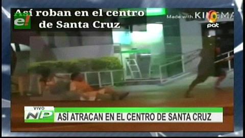Así atracan en el centro de Santa Cruz