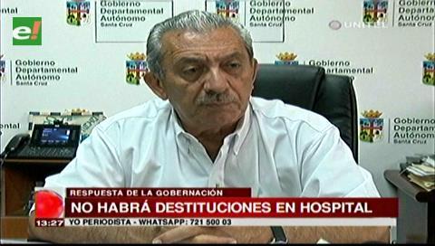 Urenda: No habrá destituciones en el Hospital del Niño