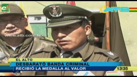 Otorgan medalla al valor a un policía que desbarató a una banda criminal