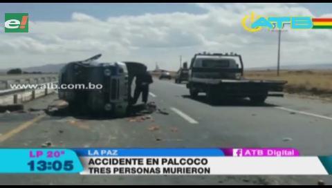 3 personas murieron en accidente de tránsito en carretera a Copacabana