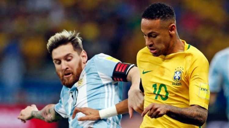 Lionel Messi y Neymar, las dos máximas estrellas de Sudamérica (AP)