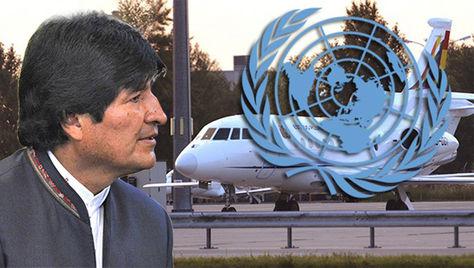 El presidente Evo Morales en la ONU.