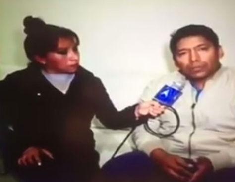 El exviceministro de Seguridad Ciudadana, Carlos Aparicio durante su entrevista con