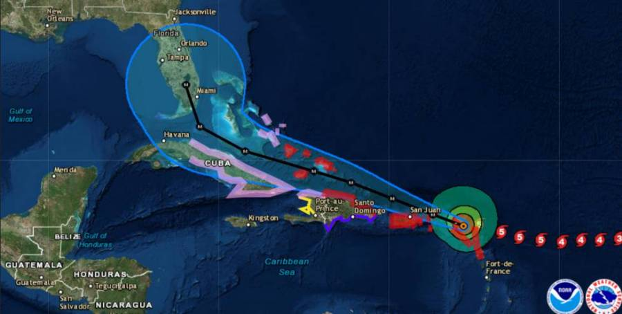 Trayectoria del huracan Irma