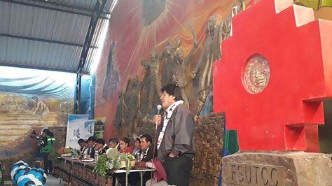 El presidente Evo Morales en Cochabamba. Foto:Ministerio de Comunicación