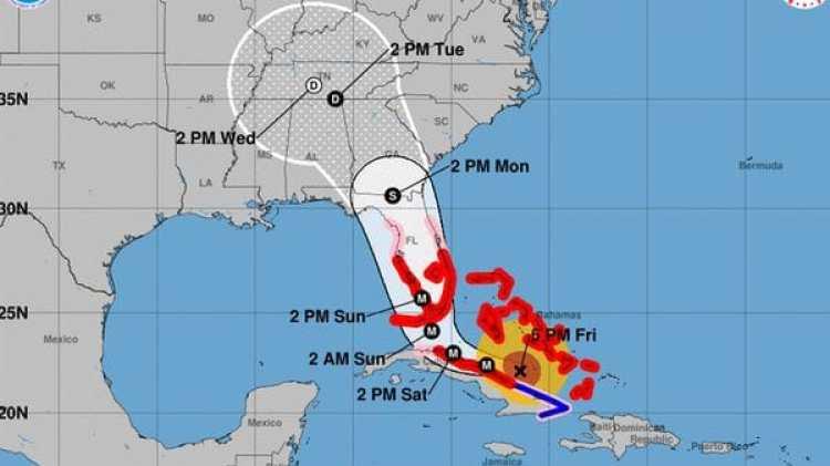 Pronóstico del Huracán Irma. Boletín de las 5 pm– viernes 8