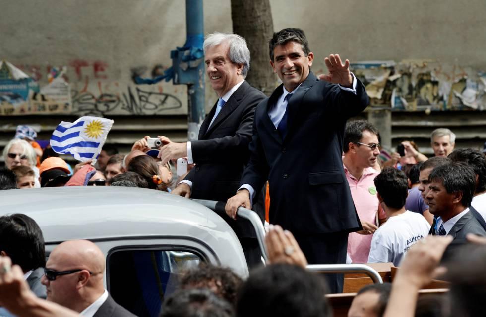 Tabaré Vázquez y su hasta hoy vicepresidente, Raúl Sendic, hace dos años en su toma de posesión.