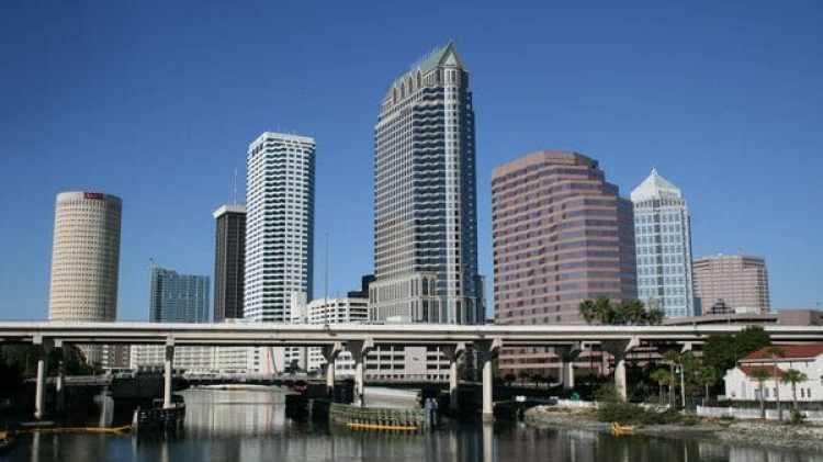 El centro de la ciudad de Tampa