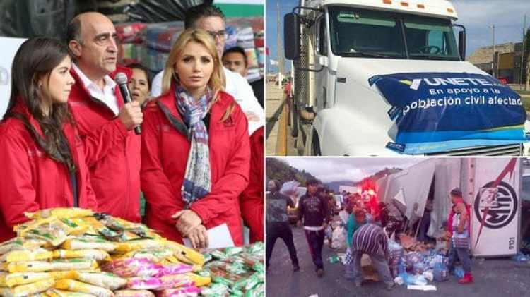 La primera dama recibió fuertes críticas por llevar los colores del partido de su esposo. (Foto: Presidencia de México)