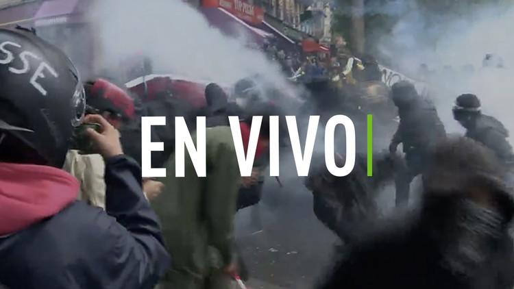 EN VIVO: Violencia en París, por las nuevas reformas laborales