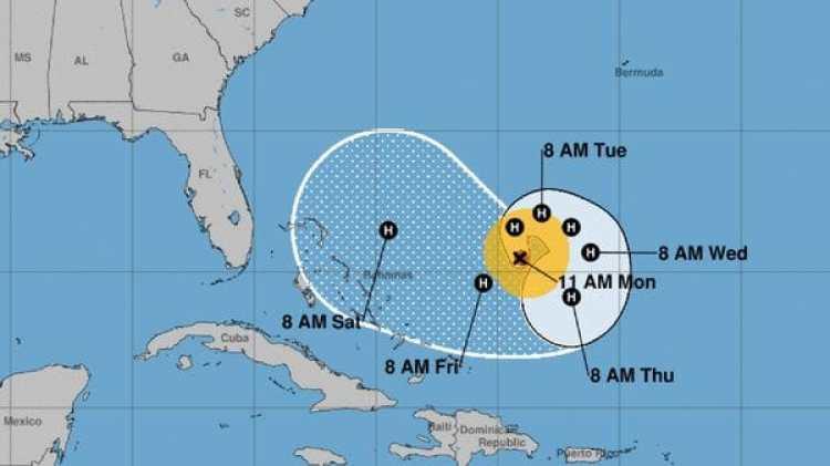 Pronóstico del avance del huracán José