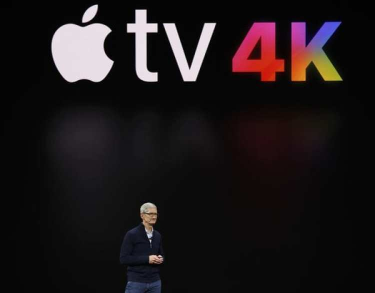 El CEO de Apple, Tim Cook presenta el nuevo Apple TV (Reuters)