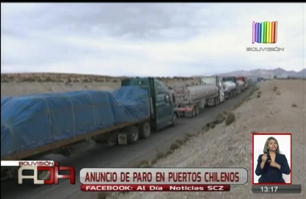 Transporte pesado preocupado por paralización de puerto chileno