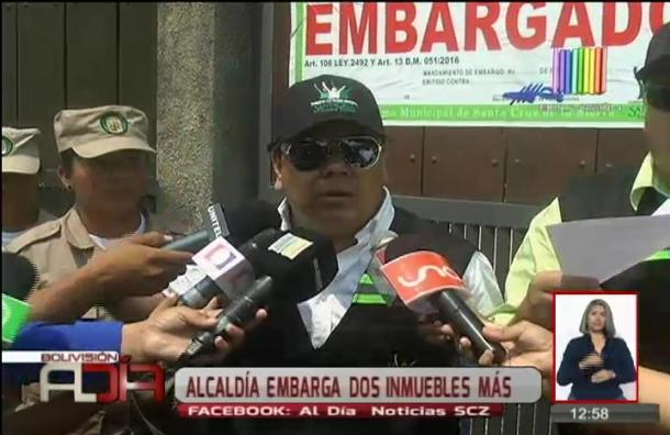 Municipio cruceño continúa realizando embargos de inmuebles