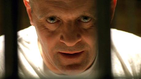 La imagen grabada desde la película 'The Silence of the Lambs'