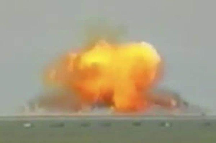 """La explosión que habría causado """"el padre de todas las bombas"""" (1TV.RU)"""