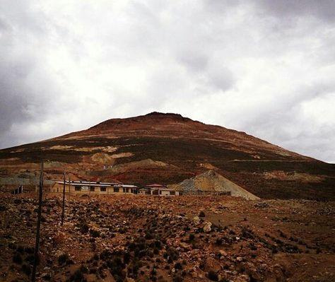 Una panómarica del sector del Cerro Rico de Potosí donde ocurrió el accidente.