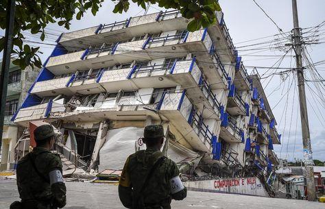 Un edificio colapsado tras el sismo de 8,2 grados del 8 de septiembre. Foto: AFP - archivo