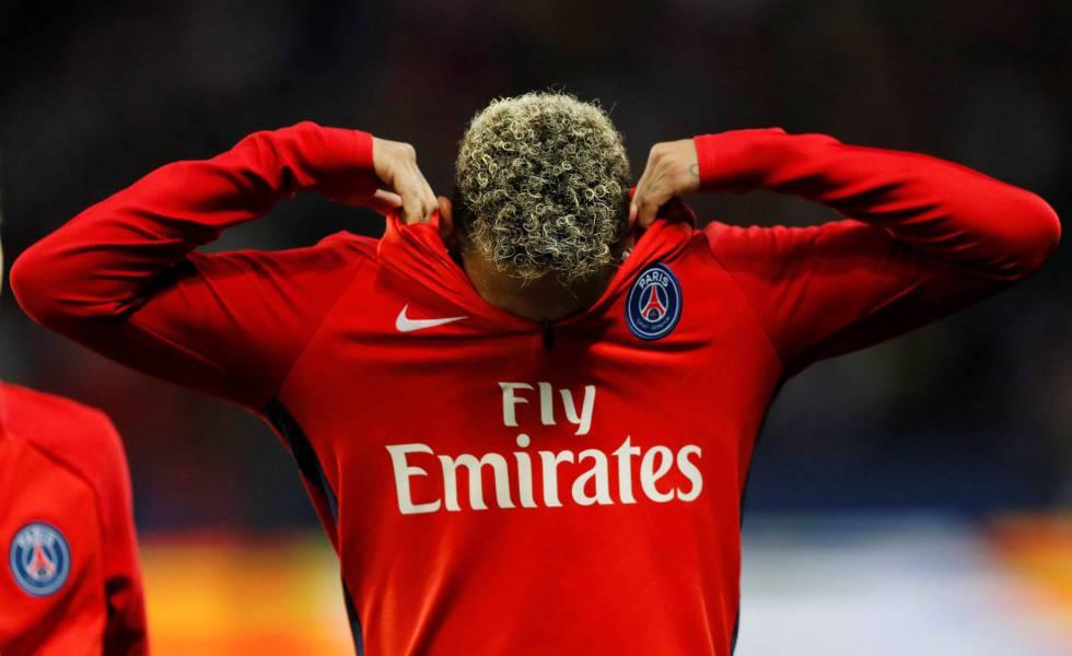 Neymar, durante el partido entre el PSG y el Olympique Lyonnais.