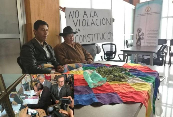 Hoy fueron presentados dos memoriales observando la acción presentada por el MAS. Fotos: CORREO DEL SUR
