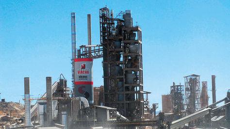 Vista de la fábrica de cemento Viacha, de Soboce, ubicada en la ciudad del mismo nombre. Foto: archivo La Razón