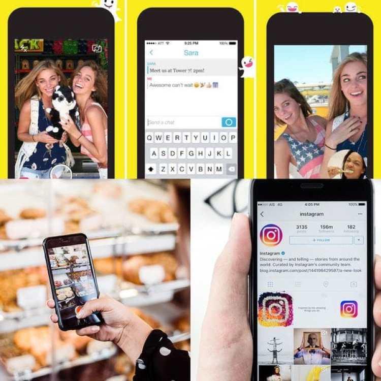 La estética cuasi infantil de Snapchat parecería haber pasado de moda comparado al aspecto más sobrio de su rival