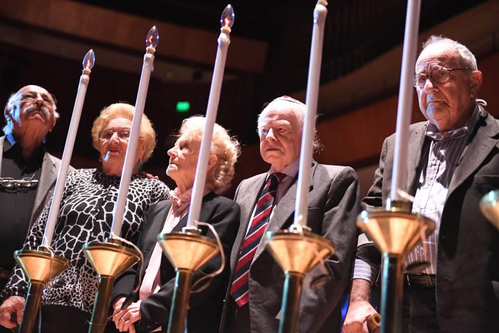 La DAIA conmemora el 27 de abril en Buenos Aires el Día del Holocausto y del Heroísmo, al cumplirse el 74 aniversario del levantamiento del gueto de Varsovia.