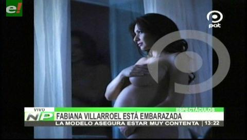 En diciembre nace el primogénito de Fabiana Villarroel