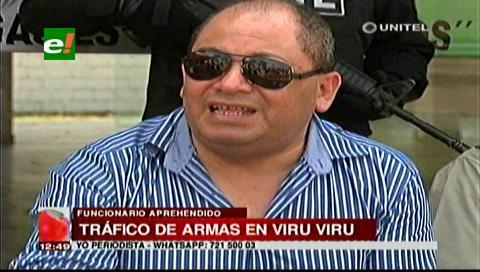 Uno de los detenidos por tráfico de armas sería funcionario de Viru Viru