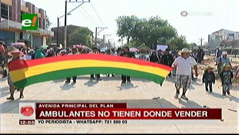 Gremiales exigen a la Alcaldía prohibir los asentamientos de ambulantes