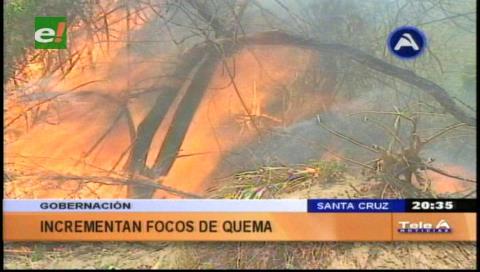 Gobernación alerta riesgo extremo en Santa Cruz por 5.074 focos de quema