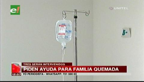 Tres de siete miembros de una familia entrarán a cirugía por quemaduras