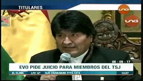 Video titulares de noticias de TV – Bolivia, mediodía del miércoles 6 de septiembre de 2017