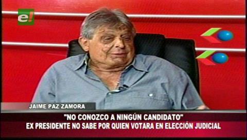 """Paz Zamora sobre elecciones judiciales: """"el gobierno del MAS repite sus errores"""""""