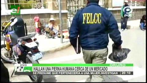Oruro: Hallan pierna cercenada de una mujer en un río