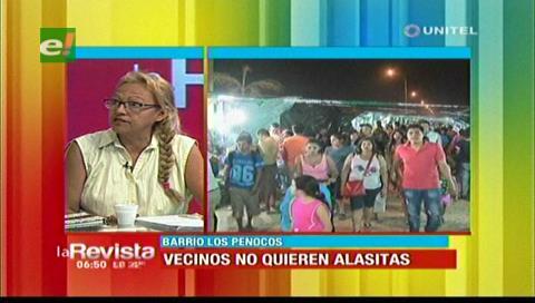 Vecinos de Los Penocos se oponen a la feria de Alasitas en su barrio