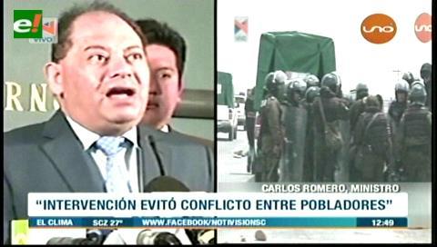 Romero: Intervención a bloqueo en Achacachi evitó derramamiento de sangre y liberación de Clares