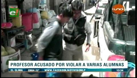 Oruro: Aprehenden a profesor acusado de violar a 4 de sus alumnas