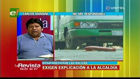 Transporte libre pide explicación a la Alcaldía cruceña por retiro de balizas de las calles