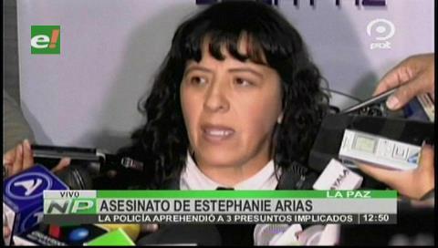 Policía aprehendió a 3 presuntos implicados en la muerte de Stephannie Arias