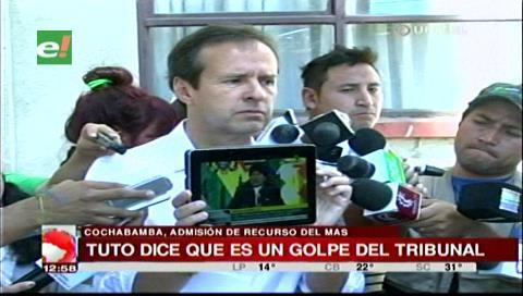 """Tuto a Evo: """"El pueblo dijo no, cumpla callado, váyase y respete la CPE"""""""