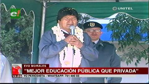 Presidente Morales expresa deseo de que las universidades privadas se cierren